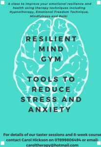 Poster for Resilient Mind Gym.