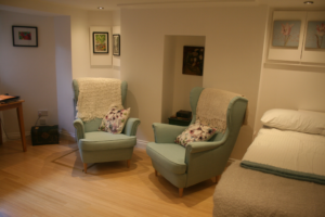 Therapy Room with armchairs.